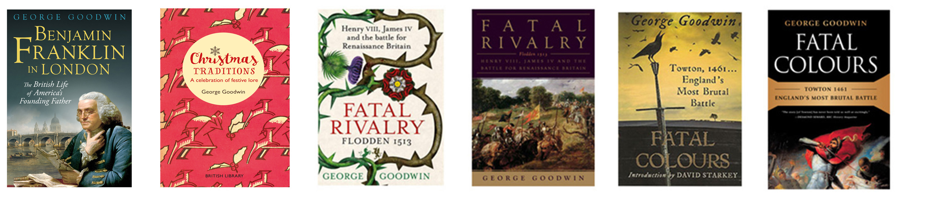 Covers of books by George Goodwin